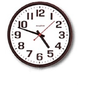 "2012BQ Commercial Wall Clock, 12"", 110/120VAC"