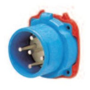 Meltric 33-18043 Switch Rated Inlet, 20A, 480V, 3P