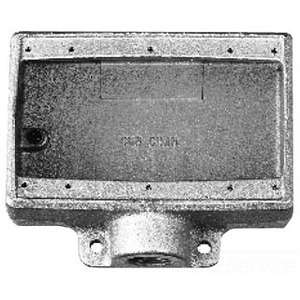"Cooper Crouse-Hinds FD23 FD Device Box, 3-Gang, Type: FD, 3/4"", Malleable Iron"