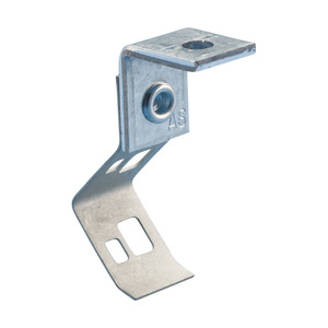"nVent Caddy 708AB Rod/Wire Hanger, Angle Bracket, 1/4"" Rod, #8 Wire"