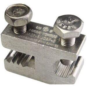 Burndy BGBS4BULK Lay-In Ground Lug, 4 -14 AWG, Aluminum *** Discontinued ***