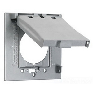 Hubbell-TayMac MX2150S Single Receptacle, 2-Gang, Weatherproof Cover