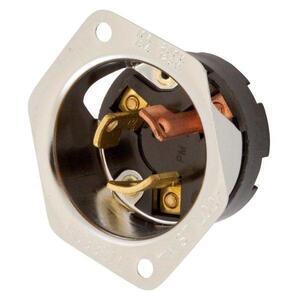 Hubbell-Wiring Kellems HBL7556 LKG FLG INLT, 3P3W, 10A 250V/15A125V