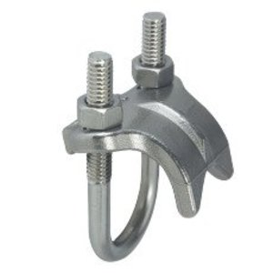 "Gibson Stainless & Specialty 1150 Right Angle Clamp, Size: 1-1/2"", Material: Stainless Steel"