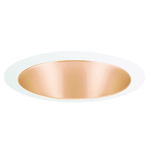 "Juno Lighting 207-WHZWH Cone Trim, 5"", R20/PAR20, Wheat Haze Reflector/White Ring"