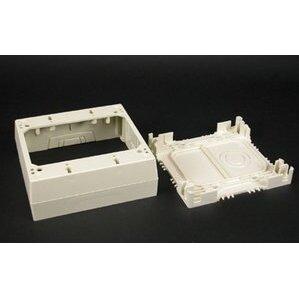 Wiremold 2348-2-WH Deep Device Box, 2-Gang, 2300 Series Raceway, White