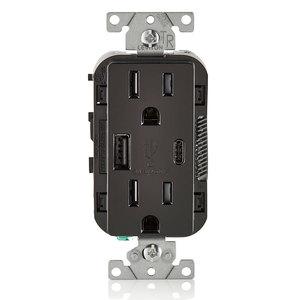 Leviton T5633-E T5633-E, 15A/USB/TR