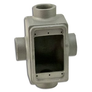 "Appleton FDX175 FD Device Box, 1-Gang, Feed-Thru, Type: FDX, 3/4"", Malleable Iron"