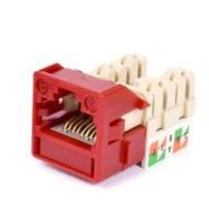 Commscope CC0020909/1 Snap In Connector, Uniprise, UNJ600, Cat 6, U/UTP, Outlet, Red