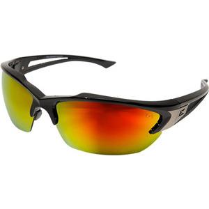 Wolf Peak SDKAP119 Eyewear, Khor, Black Frame/Red Mirror Lens, Non-Polarized