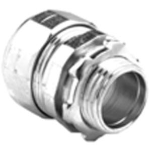 "Bridgeport Fittings 253-US EMT Compression Connector, 1-1/4"", Concrete Tight, Steel"