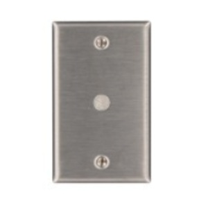"Leviton 84061-40 Phone/Cable Wallplate, 1-Gang, .406"" Hole, 302 SS"