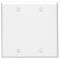 88025 WHITE 2G BLANK PLATE - BOX MOUNT
