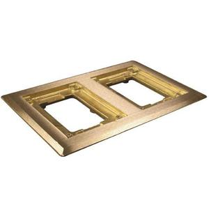 Wiremold 827C Cover Plate Flange, Square, 2-Gang, Brass