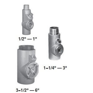 "Appleton EYS66 Sealing Fitting, Vertical/Horizontal, 2"", Explosionproof, Malleable"