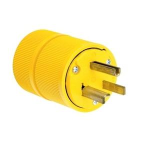 Pass & Seymour D0531 Plug, 30A, 125V, 5-30P, 2P3W, Yellow