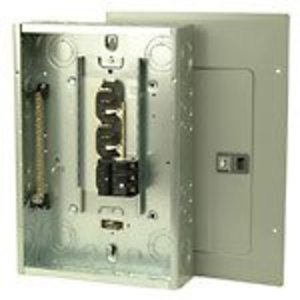 Eaton 3BR1224H100 Load Center, Main Breaker, 100A, 12/24, NEMA 1, Combo Cover, 22kAIC