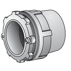 """OZ Gedney CH-400T Conduit Hub, Type: Space-Maker, Size: 4"""", Insulated, Malleable"""