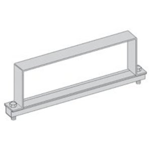 "Eaton B-Line 9A-12-9064-W/SS6 Cable Tray Heavy Duty Cover Clamp, 12"" Width, 6"" High, Aluminum, SS Hardware"