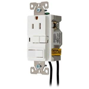 Hubbell-Wiring Kellems GFSP15WC 15A 125V COM GFCI/SP *** Discontinued ***