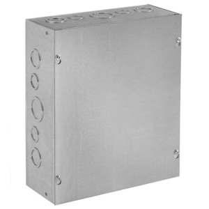 "nVent Hoffman ASG12X12X4 Pull Box, NEMA 1, Screw Cover, 12"" x 12"" x 4"""