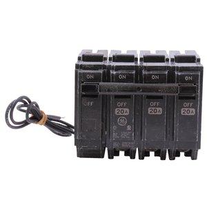 ABB THQL32020ST1 Breaker, 20A, 3P, 120/240V, 10 kAIC, Shunt Trip 120VAC