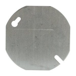 "Steel City 24C1-25 3-1/2"" Octagon Box Cover, Type: Blank, Steel"