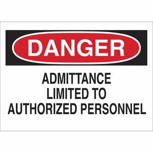 22071 ADMITTANCE SIGN