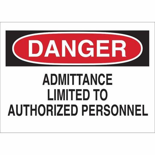 22072 ADMITTANCE SIGN