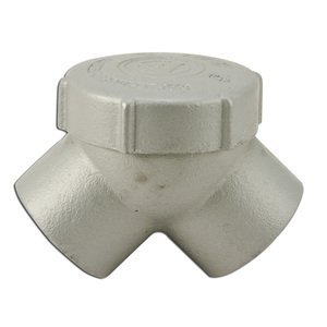 """Appleton ELBY-125 Pulling Elbow, Capped, 90°, 1-1/4"""", Explosionproof, Malleable Iron"""