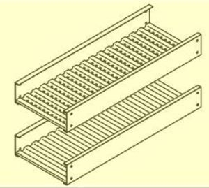 """Cope 6D43-24SL-12-S Non-Ventilated Trough Tray, Aluminum, 4"""" Side Height, 24"""" Wide, 12' Long"""