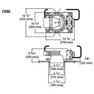 "Capri CM6 Capri One Metal Plaster Frame, 6"" *** Discontinued ***"
