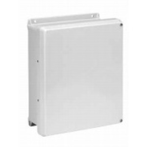 "nVent Hoffman HJ1008HWLG Junction Box, NEMA 4X, Hinge Cover, 10"" x 8"" x 4"""