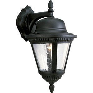 Progress Lighting P5863-31 Wall Lantern, Outdoor, 1-Light, 100W, Textured Black
