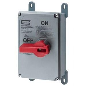 Hubbell-Kellems HBLDS3AC Disconnect Switch, Rotary, 30A, 600VAC, 3P, Non-Metallic, NEMA 4/4X