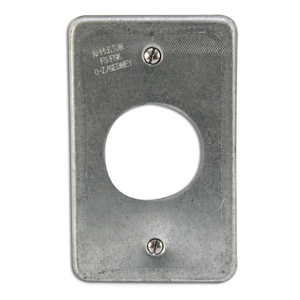 Appleton FSK-1R-Q Receptacle Cover, 1-Gang, Steel, Fits FS and FD Boxes