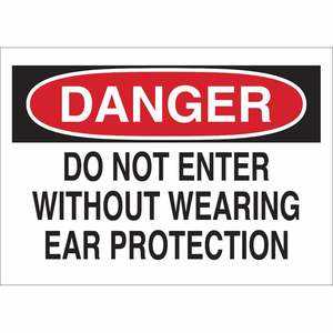 40652 EAR PROTECTION SIGN