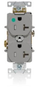 Leviton T8300-GY GY DUP TR HG REC 2P3W 520R 20A125V