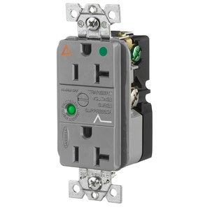 Hubbell-Wiring Kellems IG8362GYSA DUP SPD RCPT, IG, HG,20A 125V, 5-20R,GY
