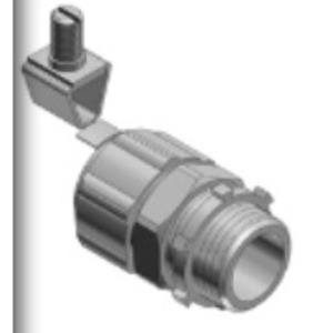 "Thomas & Betts 5232GR Liquidtight Grounding Connector, Straight, 1/2"", Steel"