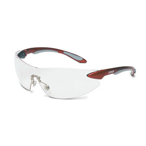 ABB S4410 Uvex Ignite Protective Eyewear, Frameless, Red/Clear
