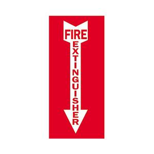 Brady 90367 Sign,B302,5x14,Wt/Rd,FIRE EXTIN,1EA