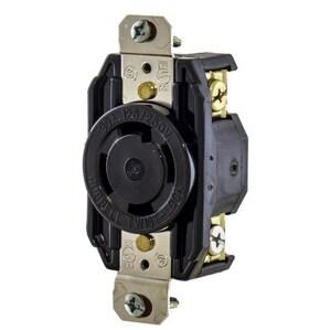 Hubbell-Kellems L1530R Locking Single Receptacle, 30A, 3PH 250V, 3P4W
