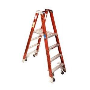 Werner Ladder PT7410-4C Platform Twin Stepladder With Casters