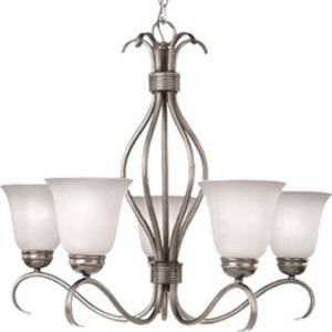 Maxim Lighting 10125ICSN Chandelier, 5-Light, 100W, Satin Nickel