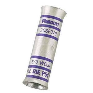Panduit SCSF2-E Buttsplice, Flared, Standard Barrel, Copper, 2 AWG Flex