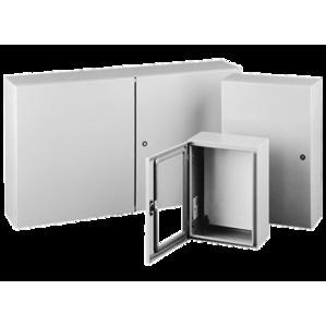 Hoffman CSD16128WLG-SPC Enclosure, Type: Concept™, NEMA 4/12, 1-Door With Window, Hinge Cover