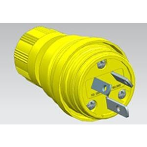 Woodhead 14W07-P Petro Grade Watertight Plug, 10/15A, 125/250V, Non-NEMA