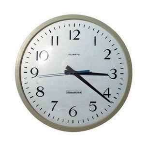 "Edwards 1882B EDW 1882B CLOCK 12""120VAC BROWN *** Discontinued ***"