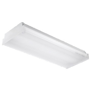 Sea Gull 59033LE-15 Surface Lensed Fixture, 2', 2-Lamp, T8, 120V, 17W